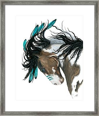 Majestic Turquoise Horse Framed Print by AmyLyn Bihrle