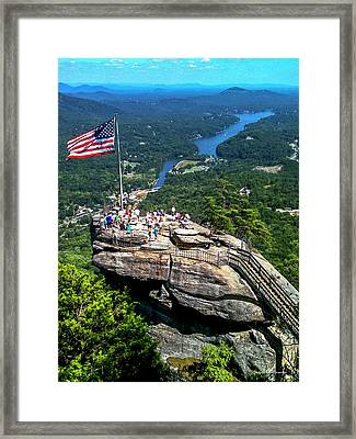 Majestic View Chimney Rock North Carolina Framed Print
