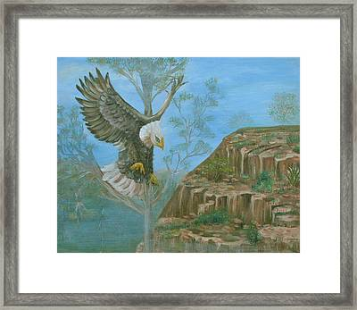 Majestic Warrior Framed Print by Mikki Alhart