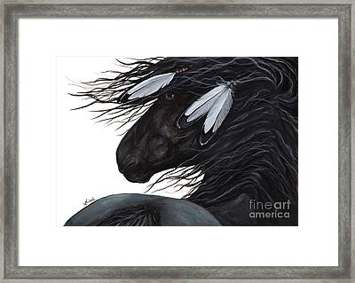 Majestic White Feathers Horse 145 Framed Print by AmyLyn Bihrle
