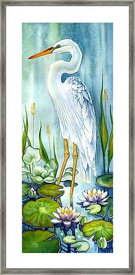Majestic White Heron Framed Print