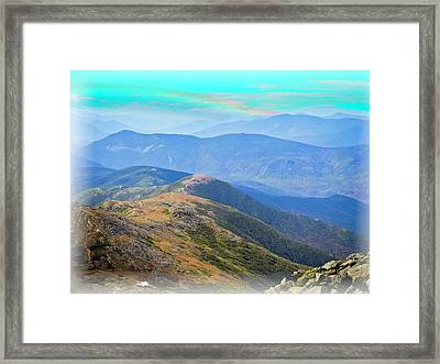 Majestic White Mountains Framed Print