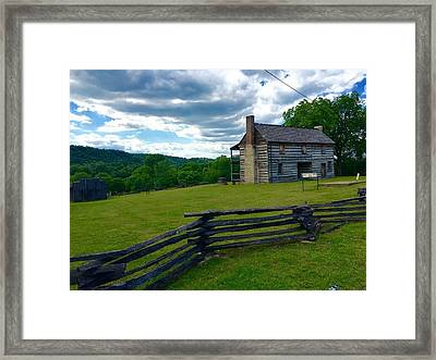 Majestic Wolf House Stands  Framed Print