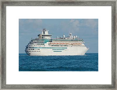 Framed Print featuring the photograph Majesty Of The Seas Cruise Ship by Bradford Martin