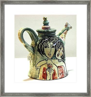 Majolica Tea Pot Framed Print by Kathleen Raven