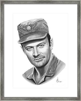 Major Frank Burns Framed Print by Murphy Elliott