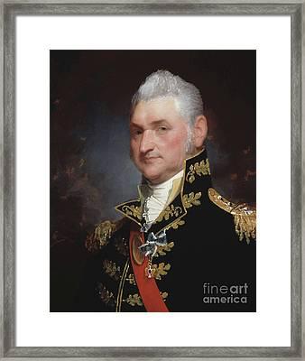 Major General Henry Dearborn Framed Print by Gilbert Stuart