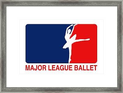 Major League Ballet Framed Print by Nancy Ingersoll