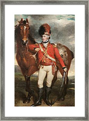 Major O'shea Of The Loyal Cork Legion Framed Print by Martin Archer Shee
