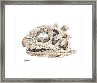 Majungasaur Skull Framed Print