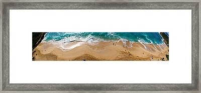 Makaha Beach Panorama Framed Print