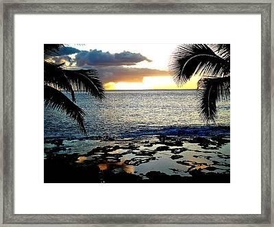 Makaha Sunset Framed Print