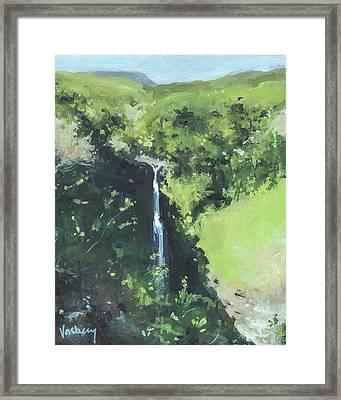 Makahiku Falls Framed Print
