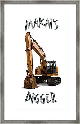Makai's Digger Framed Print