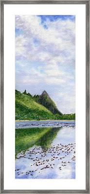 Makana Reflection Framed Print by Kenneth Grzesik