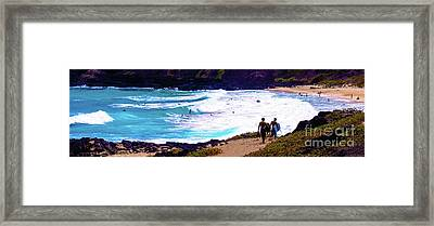 Panorama - Makapu'u Beach Park, Oahu, Hawaii  Framed Print