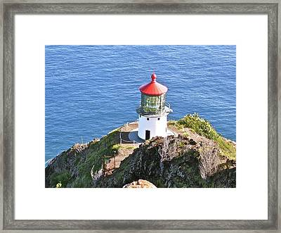 Makapuu Lighthouse 1065 Framed Print by Michael Peychich