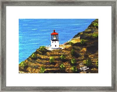 Makapuu Lighthouse #78, Framed Print by Donald k Hall