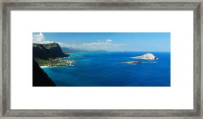 Makapuu Panorama Framed Print by Michael Peychich
