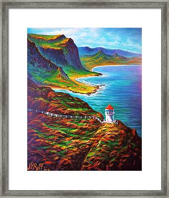 Makapuu Point Lighthouse Framed Print