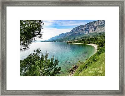 Makarska Riviera White Stone Beach, Dalmatian Coast, Croatia Framed Print