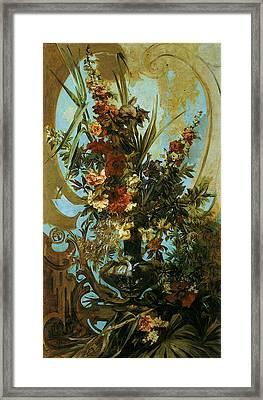 Makart Hans Grosses Blumenstuck Framed Print