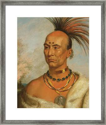 Makataimeshekiakiak  Black Hawk Framed Print by Charles Bird King