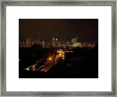 Makati Skycraper Framed Print by SAIGON De Manila