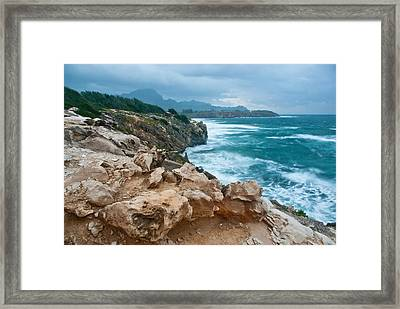 Makawehi Lithified Cliffs Framed Print by Thorsten Scheuermann