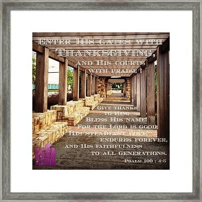 Make A Joyful Noise To The Lord, All Framed Print