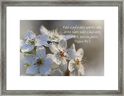 Make A Joyful Noise Unto The Lord Framed Print