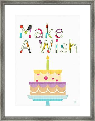 Make A Wish- Art By Linda Woods Framed Print