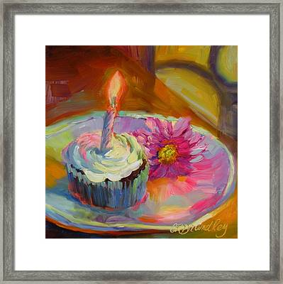 Framed Print featuring the painting Make A Wish by Chris Brandley