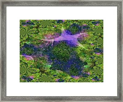 Framed Print featuring the digital art Make A Wish by Claire Bull