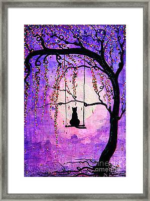 Framed Print featuring the mixed media Make A Wish by Natalie Briney