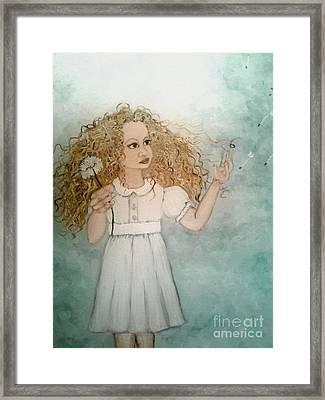 Make A Wish Portrait Framed Print by Wendy Wunstell