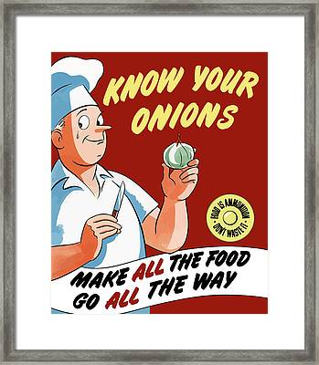 Make All The Food Go All The Way Framed Print