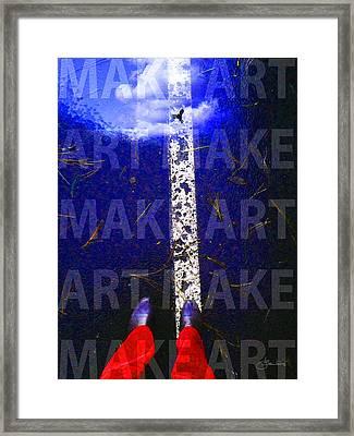 Make Art Framed Print by Judith Schmidt