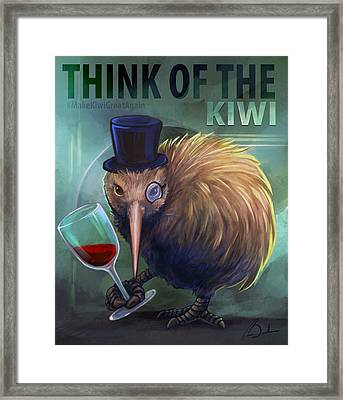 Make Kiwi Great Again Framed Print
