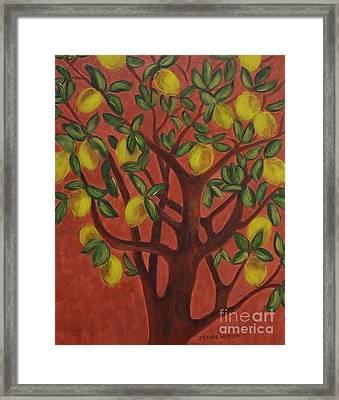 Make Lemon Aid Framed Print