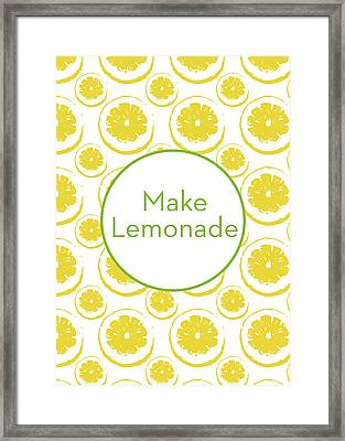 Make Lemonade 3- Art By Linda Woods Framed Print