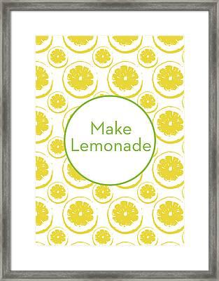 Make Lemonade 3- Art By Linda Woods Framed Print by Linda Woods