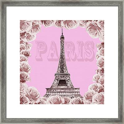 Make Me Pink Paris Framed Print by Irina Sztukowski