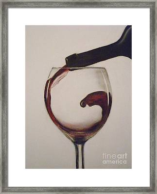 Make Mine A Red Wine Framed Print