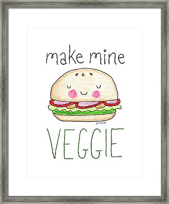 Make Mine Veggie Framed Print