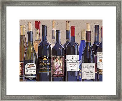 Make Mine Virginia Wine Number One Framed Print by Christopher Mize