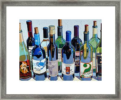 Make Mine Virginia Wine Number Three Framed Print by Christopher Mize