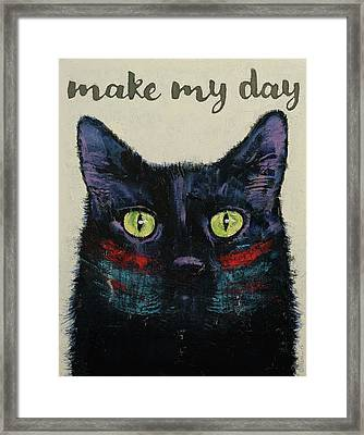 Make My Day Framed Print by Michael Creese
