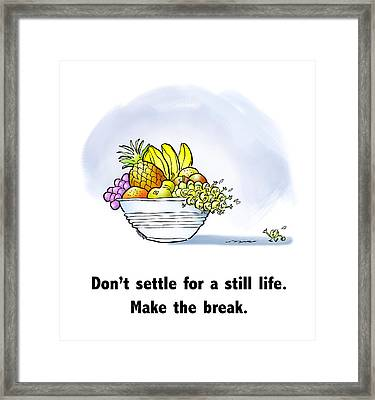 Make The Break Framed Print