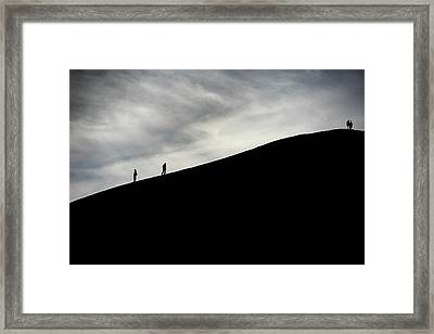 Framed Print featuring the photograph Make The Climb by Pradeep Raja Prints